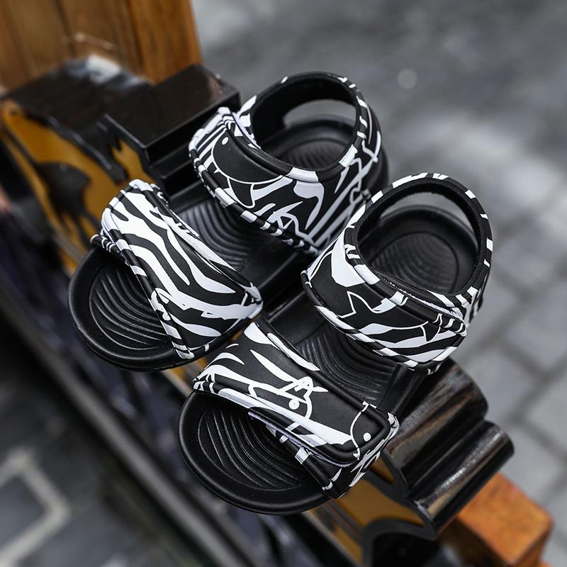 儿童凉鞋夏季卡通魔术贴女童公主果冻鞋男童宝宝洞洞鞋小孩沙滩鞋详细照片