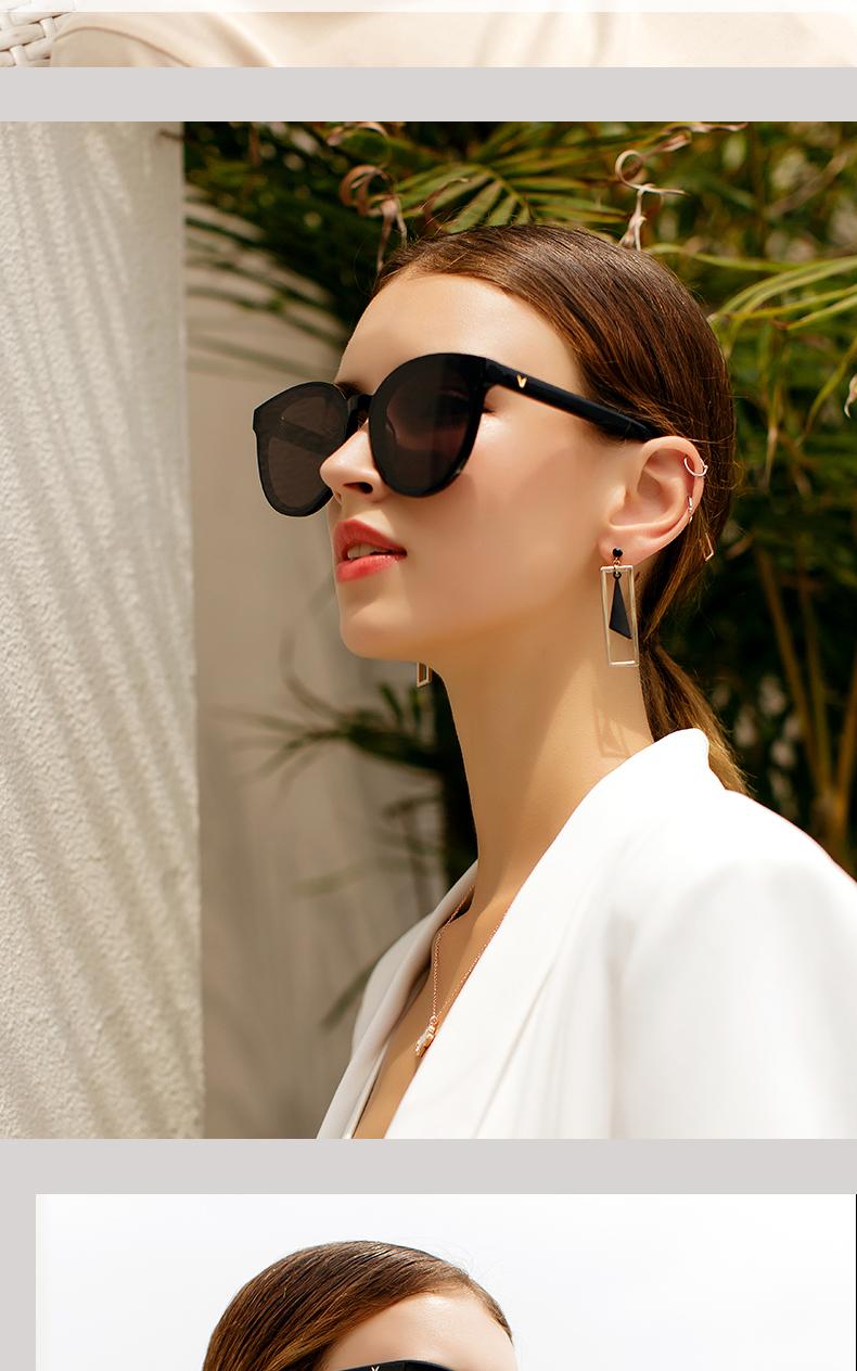 新款太阳眼镜女韩版潮抗太阳眼镜男大圆脸街拍显瘦眼镜详细照片