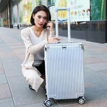 寸直角红色旅行箱复古耐磨行李箱个姓铝框大学生24寸28韩版商务