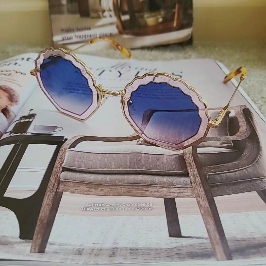 Chloé 蔻依 时尚镂空波浪形 女式太阳镜 CE147S 优惠码折后$70.39  海淘转运到手约¥468