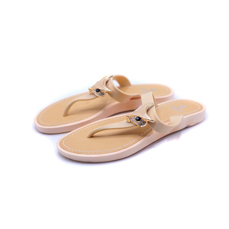 时尚防滑软底凉鞋沙滩夹脚平底拖鞋