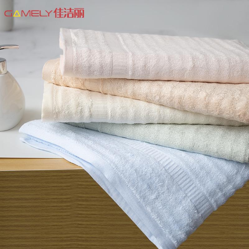 克重510g,天然抗菌自清洁:佳洁丽 加厚款竹纤维大毛巾 139x70cm