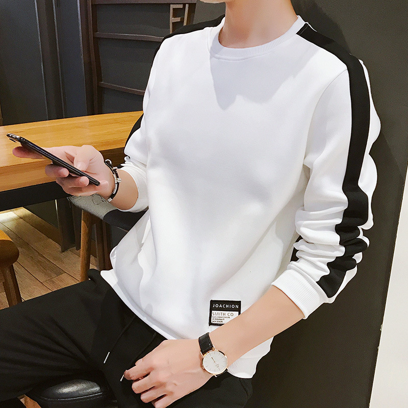 Autumn and winter new mens sweater Korean casual Pullover youth sports casual outerwear mens wear