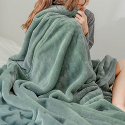 Thick double-layer flannel blanket office nap winter sofa small blanket bed sheet coral fleece quilt to keep warm