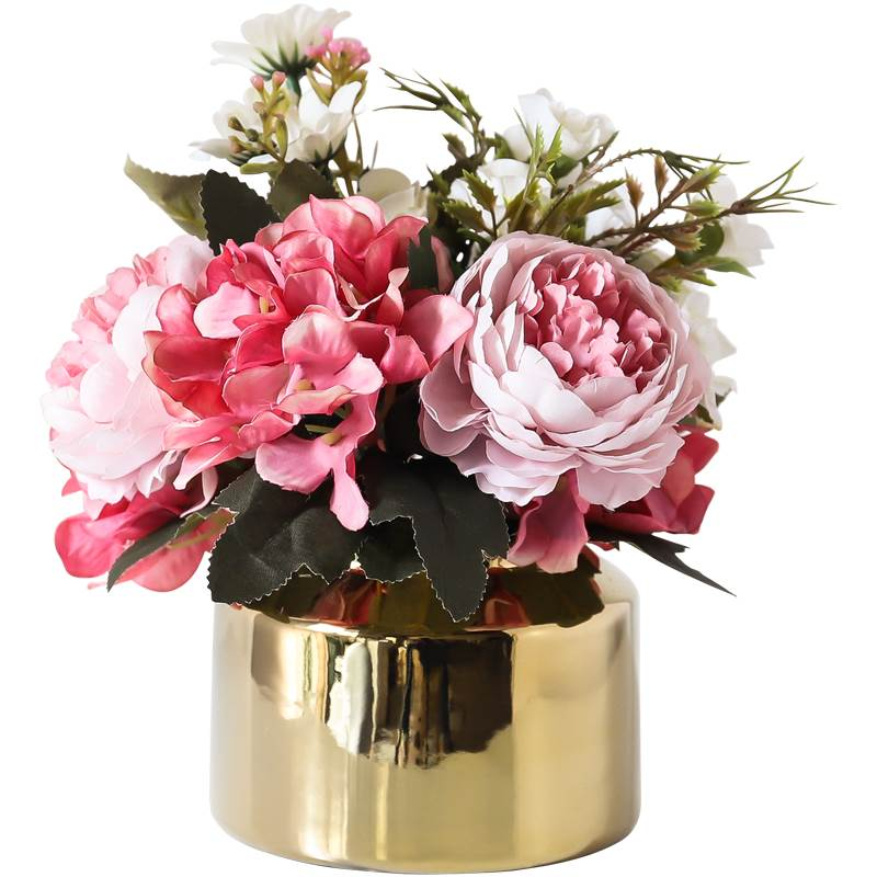The wind light plating gold decoration luxury table vase