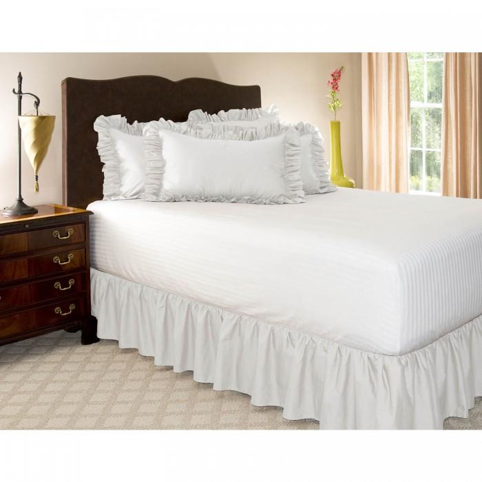 酒店床裙不带床面简易裙式纯色松紧床围裙单件防滑拆卸简单方便