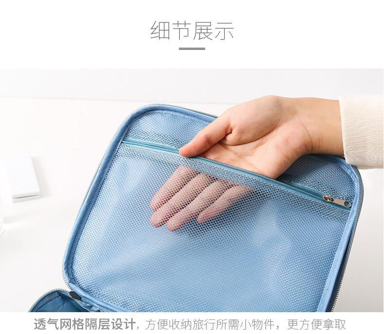 旅行化妆包可携式收纳包出差手提迷你化妆箱袋洗漱包化妆品包洗漱袋详细照片