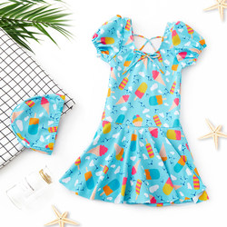 Children's swimwear girls small Chinese big boy cute princess girl baby sunscreen swimwear set