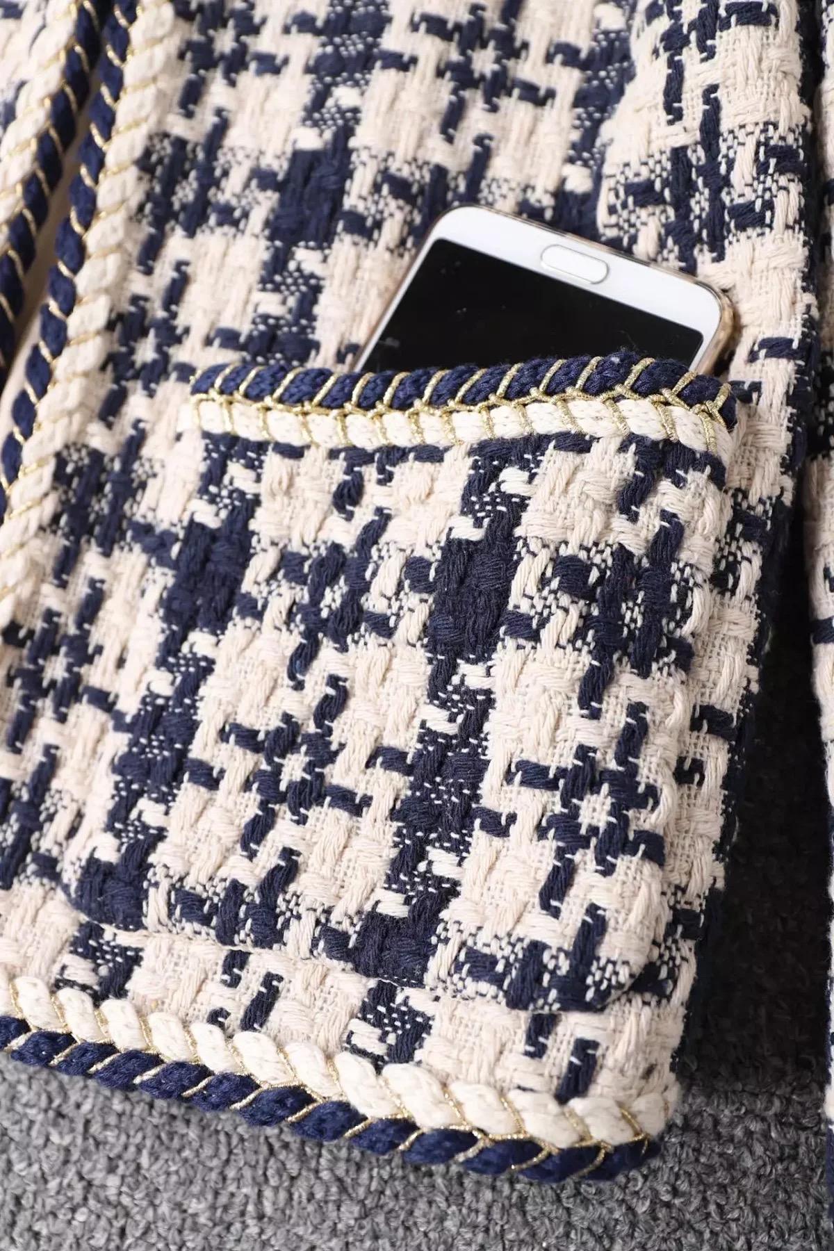 ✤寵愛Pamper for you✤CHANEL 氣質綿羊毛細花呢外套