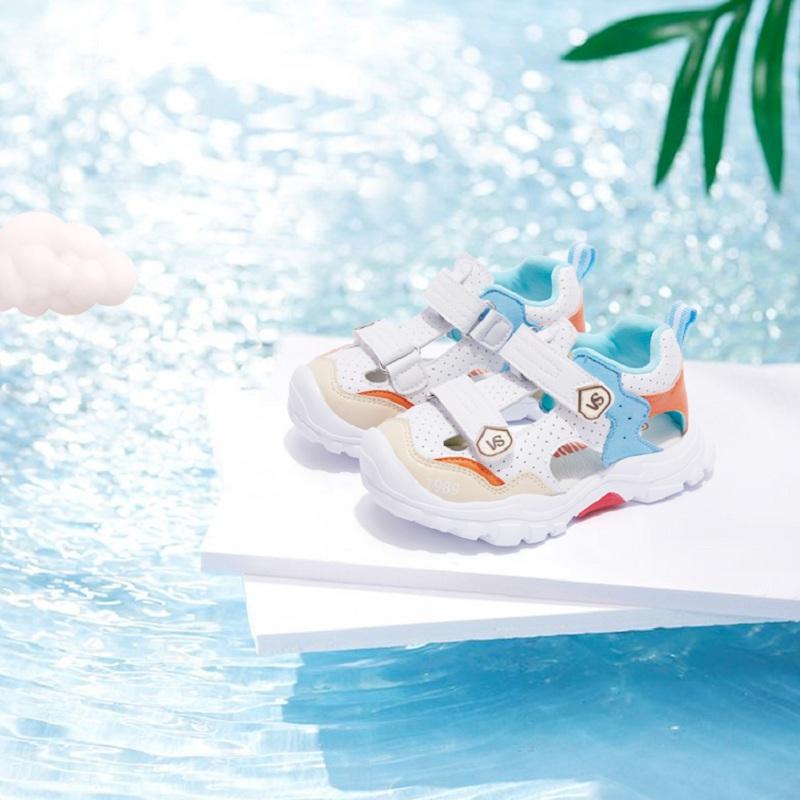 21夏季宝宝机能鞋软底防滑男女儿童凉鞋包头防撞小童沙滩运动鞋子