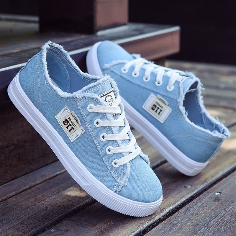 Summer womens low top flat bottom breathable lace up mesh shoes girl white hollow hole canvas new style