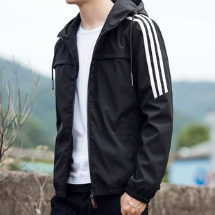 Jacket men 2020 new casual plus size sports tide plus fleece top clothes sports autumn and winter gown thin jacket