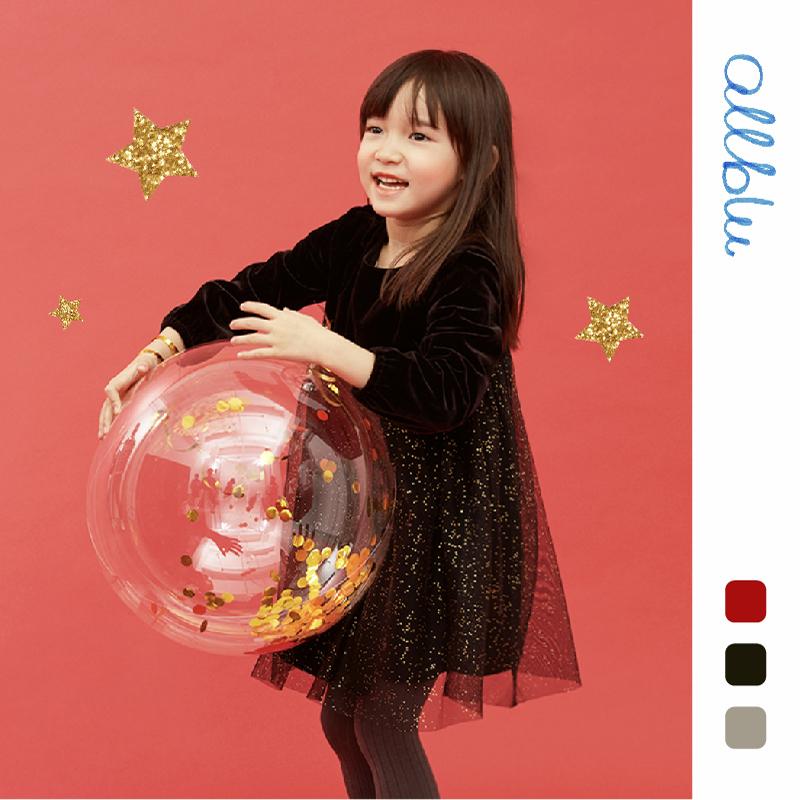【5件85折】幼岚女童裙子新春款宝宝丝绒裙洋气中长款儿童连衣裙