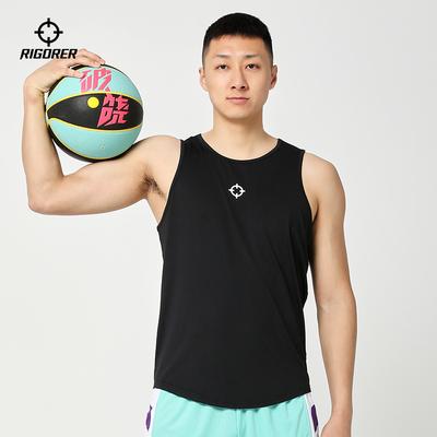 准者运动篮球背心无袖男士速干宽松跑步训练休闲时尚运动上衣