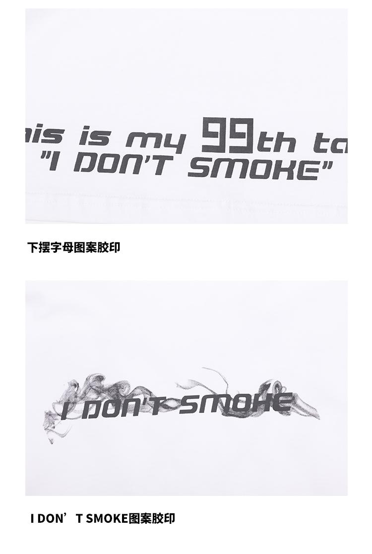 烟雾叉叉人短袖个性涂鸦宽鬆情侣装恤风潮牌嘻哈男女恤详细照片