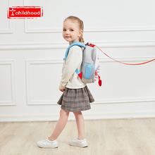 幼儿园书包男女孩书包防走失牵引带考拉背