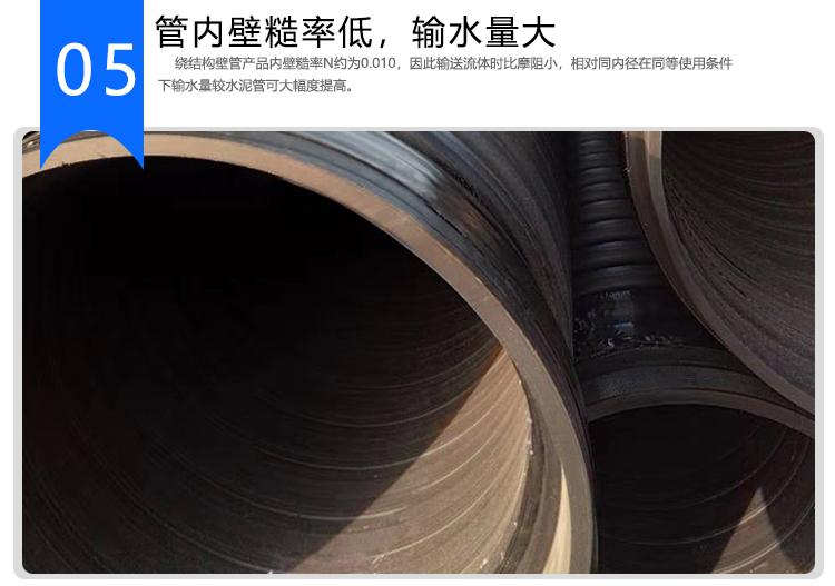 HDPE增强缠绕B型管 克拉管 HDPE增强缠绕B型排水管