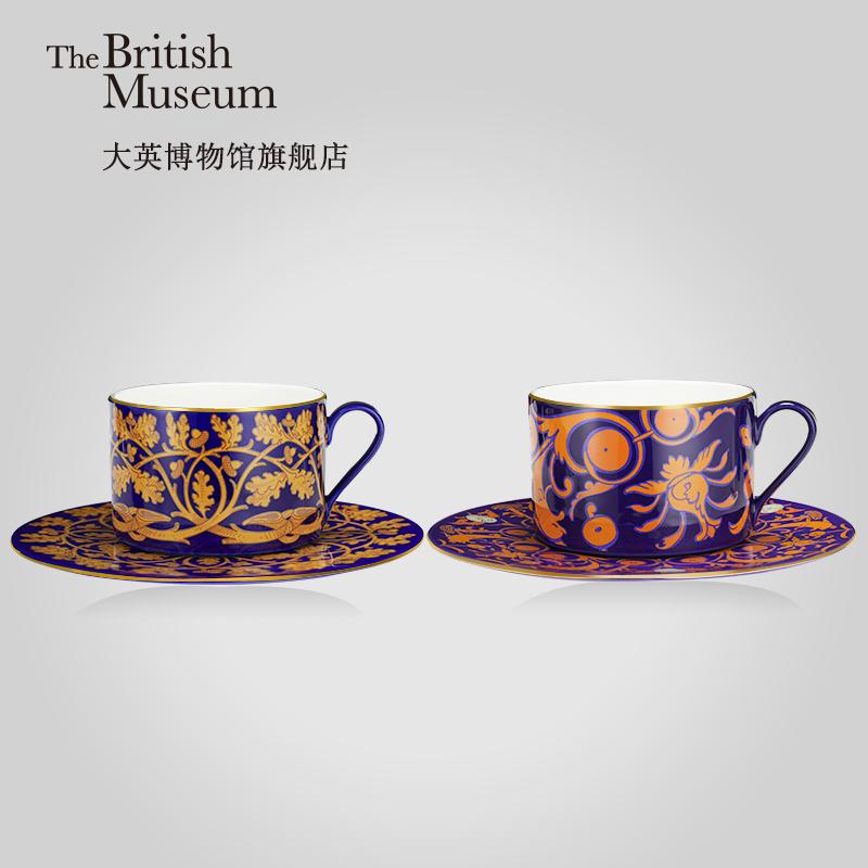 大英博物館 馬約里卡系列 復古骨瓷咖啡杯碟套裝