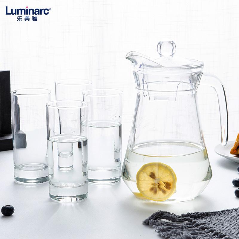 樂美雅涼水壺套裝扎壺茶水壺玻璃壺套裝玻璃耐熱樂美雅八角雪柜樽