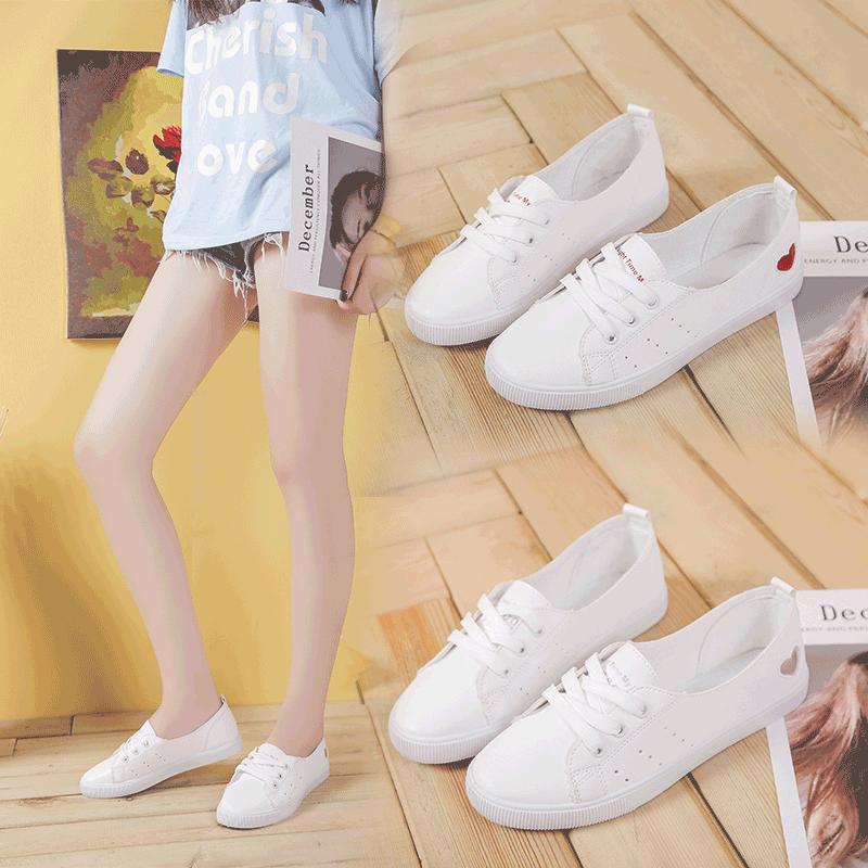 Небольшой белый Обувь женская 2018 новая коллекция корейская версия дикий на плоской подошве панель башмак для отдыха Летняя обувь для студентов воздухопроницаемый белый башмак