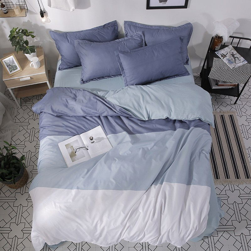 网红欧美风床上用品四件套床单双人被子被套男女学生宿舍3三件套4