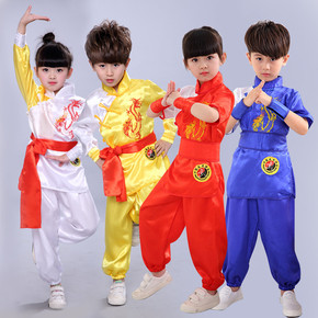 Children martial arts clothing primary school growth short sleeve children Chinese kung fu training clothes boys and girls children dance performance clothes