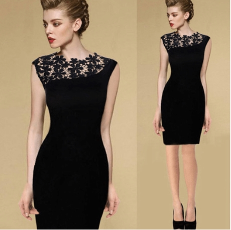 2016 summer fishion slim  lace Elegant evening dress连衣裙女