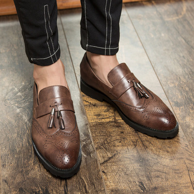 Boy Formal leather Shoes European style Men's oxfords 45 46