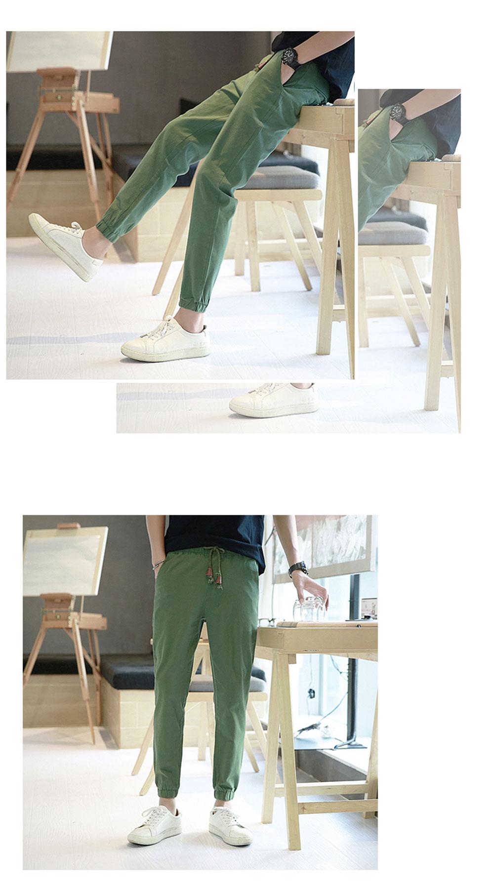 【亚麻休闲裤】春秋新款九分哈伦裤 14