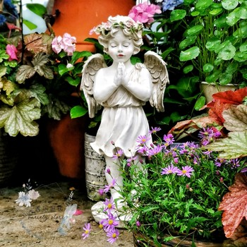 Retro European red lips angel garden balcony gardening decoration fairy fairy home balcony living room creative soft outfit