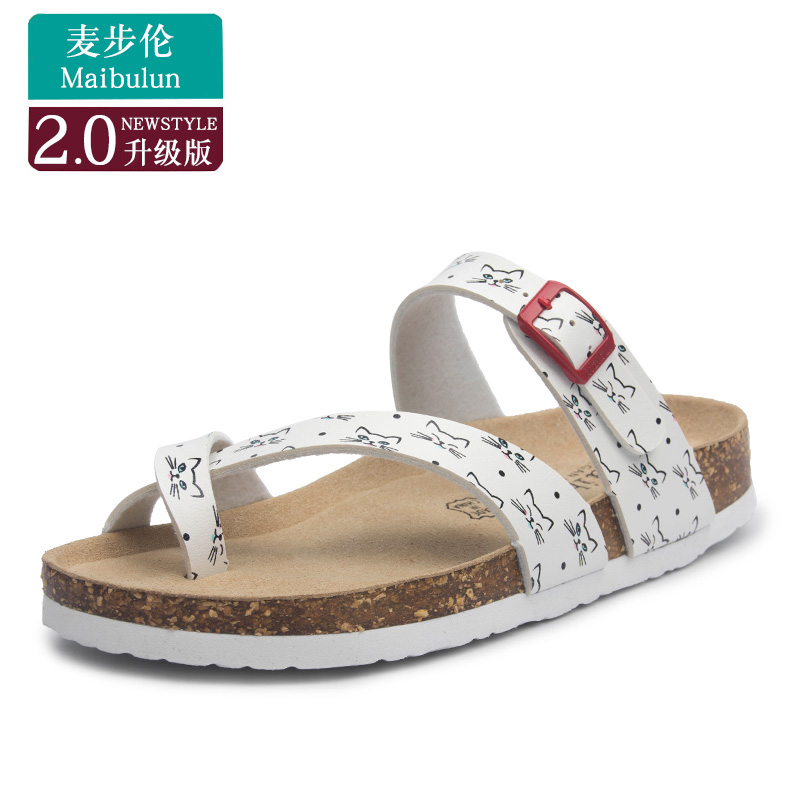 a5fb5141e473 Flat cork slippers summer sandals men and women couple beach shoes toe  large size students ulzzang · Zoom · lightbox moreview · lightbox moreview  ...