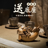 Long Sheng Nine Home Ceramic Tea Tao incense burner Creative personality small ornaments Kung Fu tea accessories simple incense tea