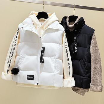 2020 сезонная продавать хлопок жилет женские короткие модель корейский осень и зима хлопок одежда жилет хлеб одежда жилет пальто женщина, цена 534 руб