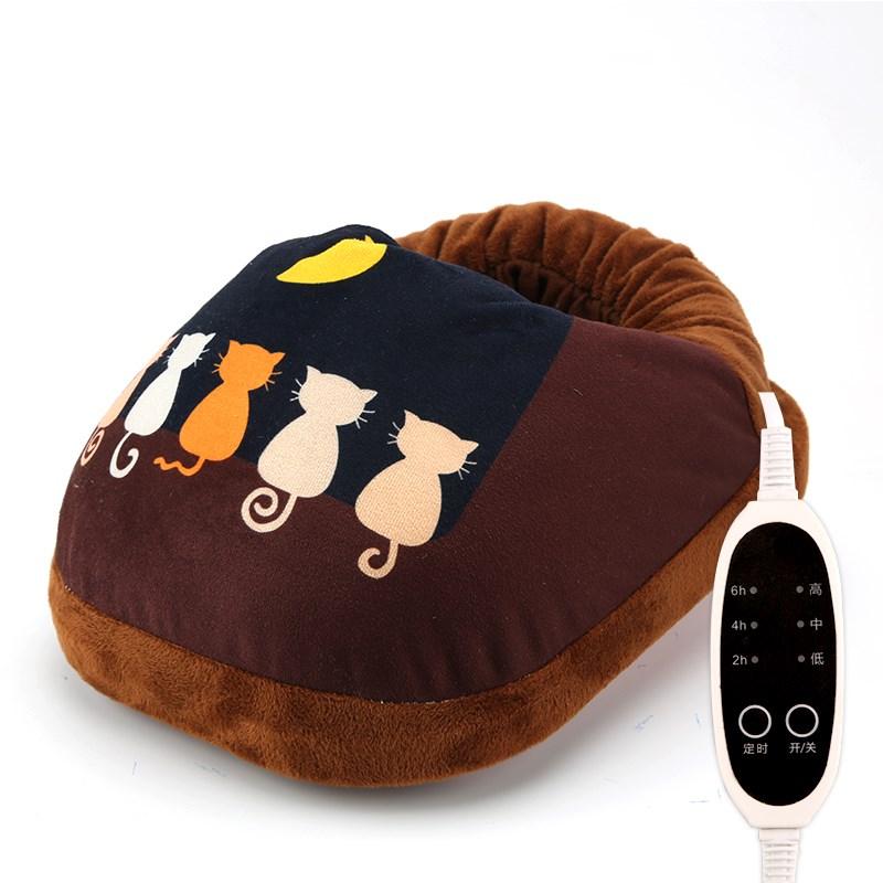 暖器鞋脚套电暖鞋男新款v暖器男暖鞋器暖足器电热暖毛绒部保手足