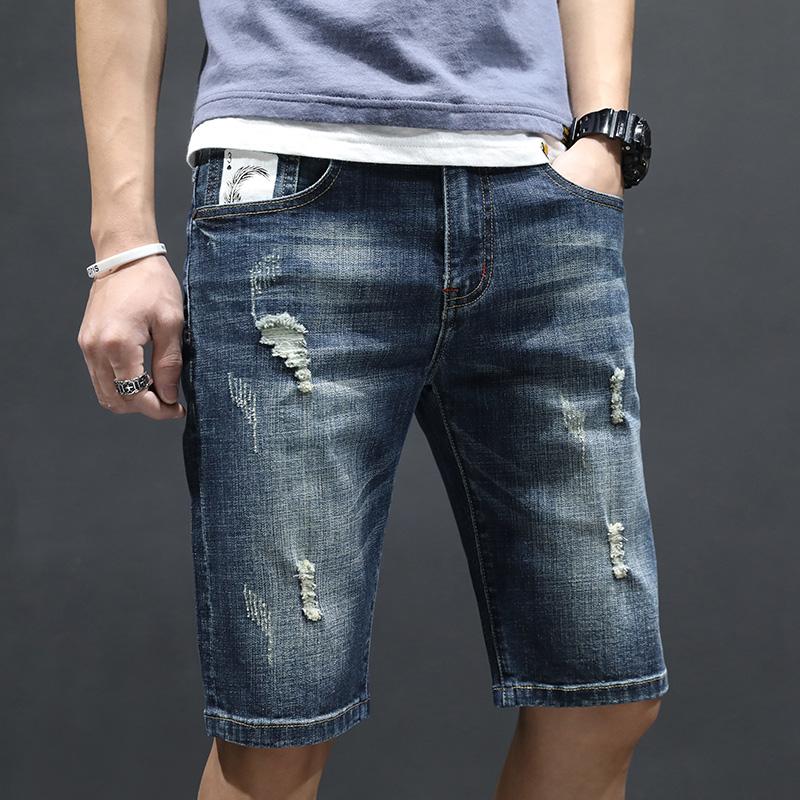 牛仔短裤男士七分牛仔裤男生夏季中裤