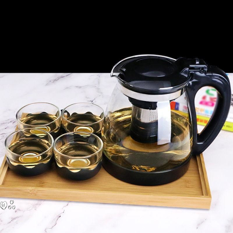 Glass teapot home teapot set office tea set high-capacity kung fu tea set kettle tea cup teapot.