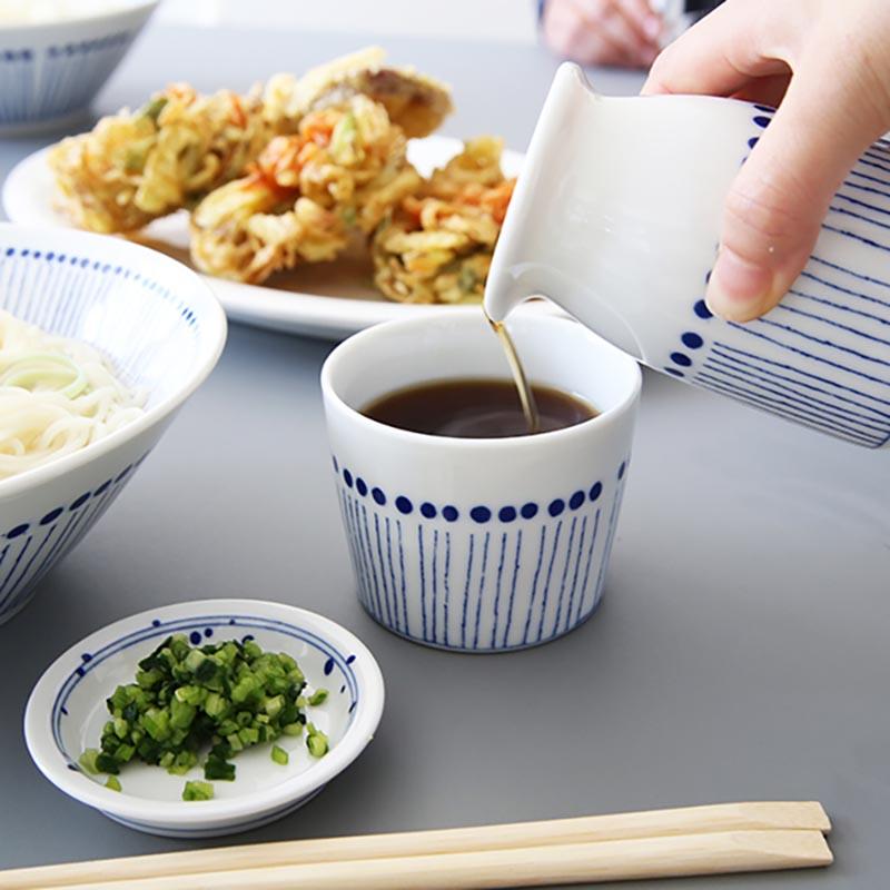 Mino Shabu Nhật Bản Mô hình phổ biến Blue Ten Grass Mẫu vẽ tay Cup Cup Cup Đơn thân Thân thẳng Tay cầm gốm Cup Bộ trà Nhật Bản - Trà sứ