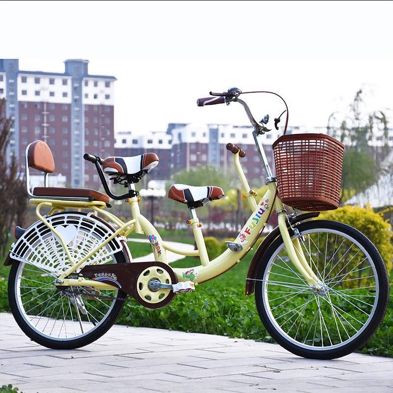 三人自行车三人单车 亲子多人车可加儿童座位亲子车包邮可踩单车