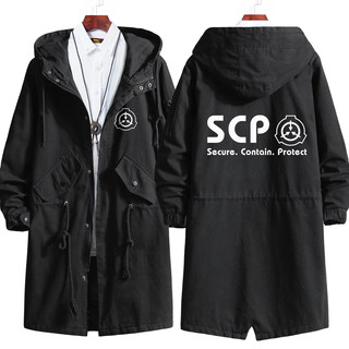 SCP Foundation Master Coat Anime Wind Clothing Jacket Men and Women Students Autumn and Winter Cards Service Hooded Suit