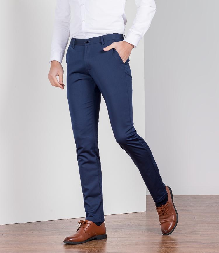 Mùa hè phần mỏng bastion quần âu nam mỏng cotton quần chân Hàn Quốc phiên bản của trẻ linen quần dài