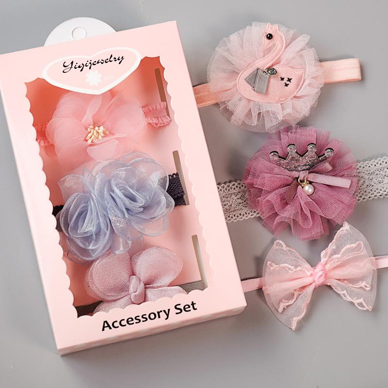 婴儿发带公主韩国宝宝头花头饰女婴幼儿新生儿童可爱超萌护囟门帽
