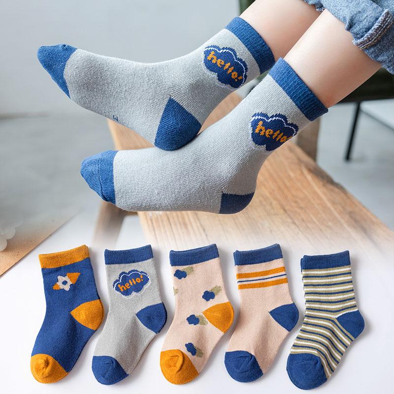 儿童袜子春秋薄款纯棉婴儿宝宝男童女童袜新生儿春夏中筒夏季船袜主图