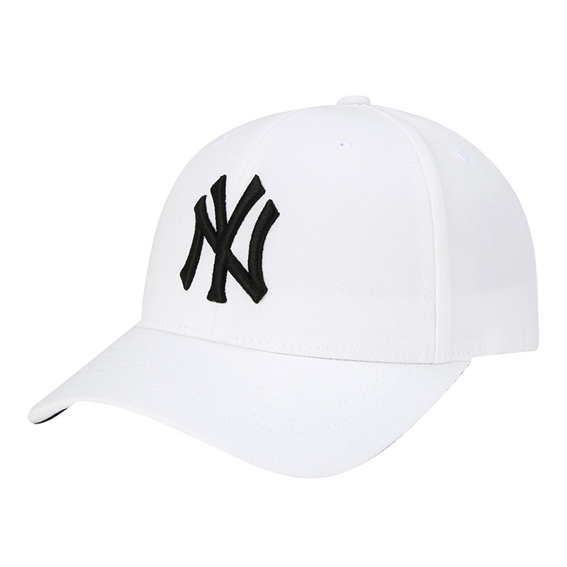 ecf3add0695c9 South Korea MLB baseball cap trendy hat beach casual hat white hat black NY  Foundation couple hat hip hop hat