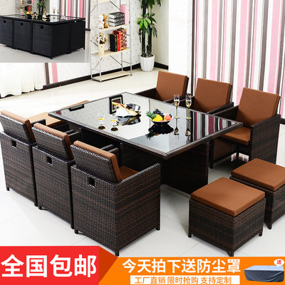 Outdoor furniture balcony chair tea several or five set garden vine table chairs chair chair creative casual courtyard table and chairs