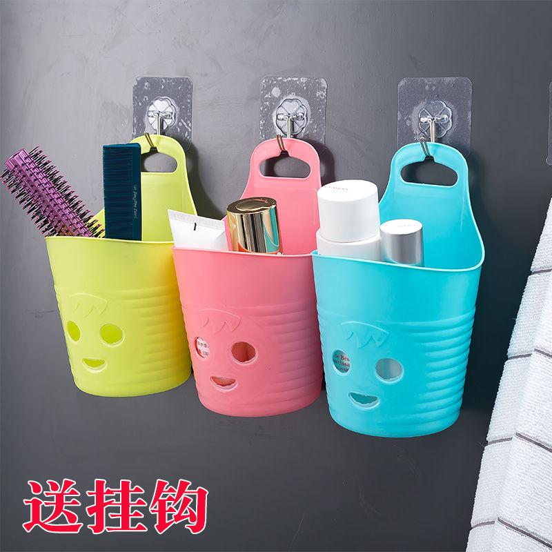 送挂钩塑料小挂篮储物篮卫生间厨房收纳篮置物架吊篮筷子餐具笼