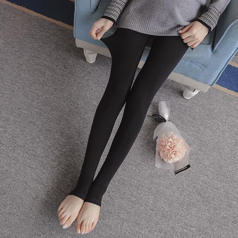 秋冬显瘦孕妇托腹外穿弹力打底裤