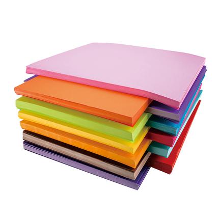 彩色a4纸500张 混色80g克彩纸黄色混色装打印复印纸a4幼儿园儿童手工纸混色剪纸