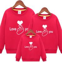 Семья установлены осень-зима 2018 новая коллекция волна полностью Домохозяйство три рта толстовка Мать одевается красный фасон унисекс куртка