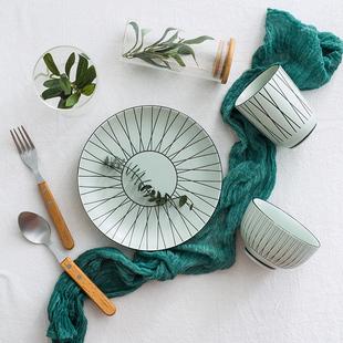 景德镇陶瓷餐具个性日式组合碗碟