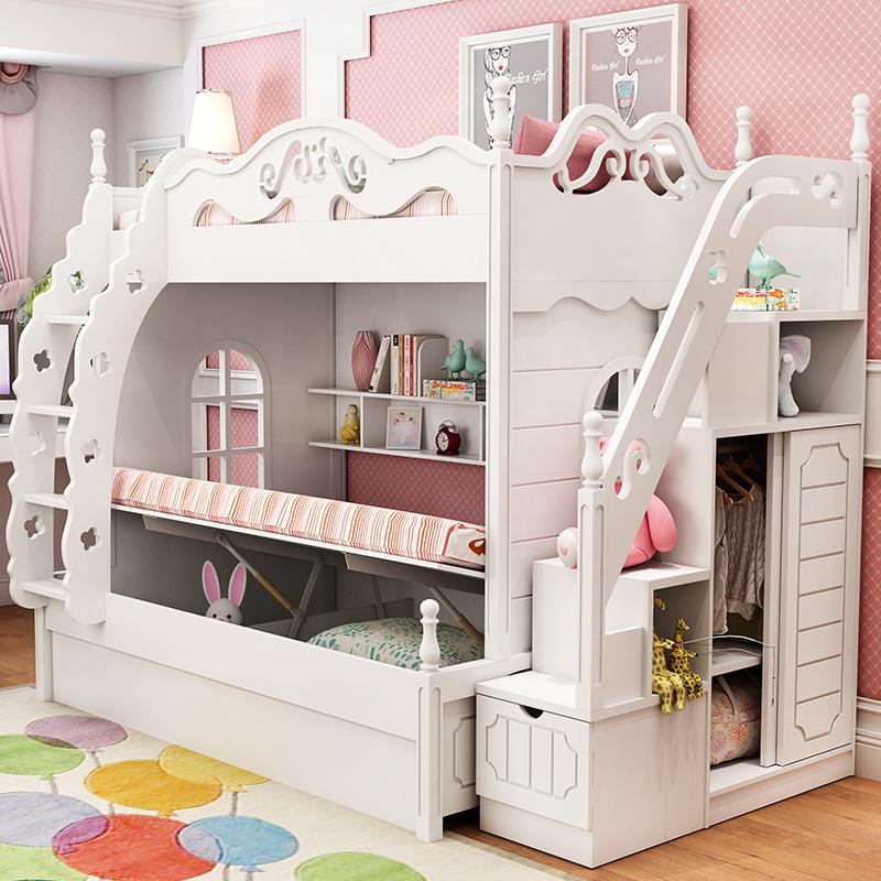 韩式女孩床母子床男公主儿童床上床上下床双层床子母高低下铺床